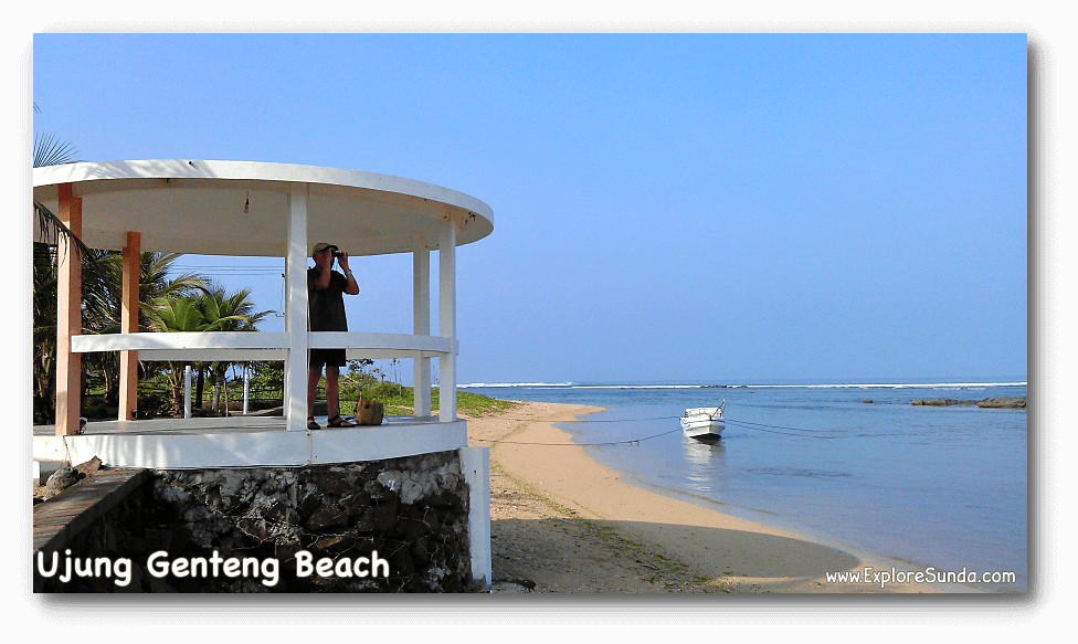 Ujung Genteng beach in the south west corner of West Java.