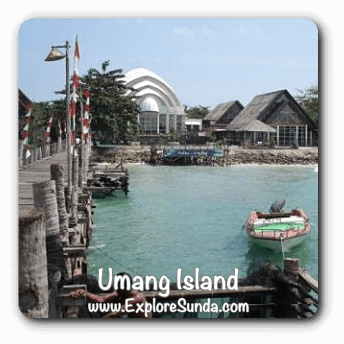 Umang island, a tiny island in the corner of Java island.