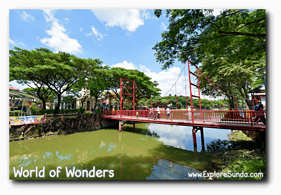 The replica of Golden Gate bridge at World of Wonders Park, Tangerang