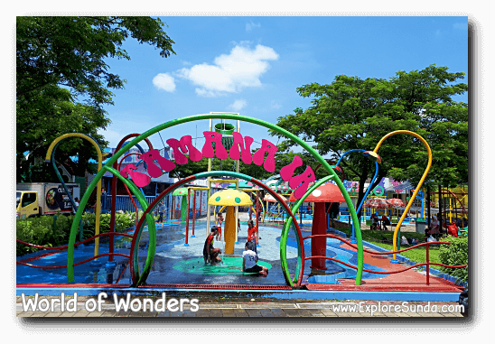 A waterpark at World of Wonders Park, Tangerang