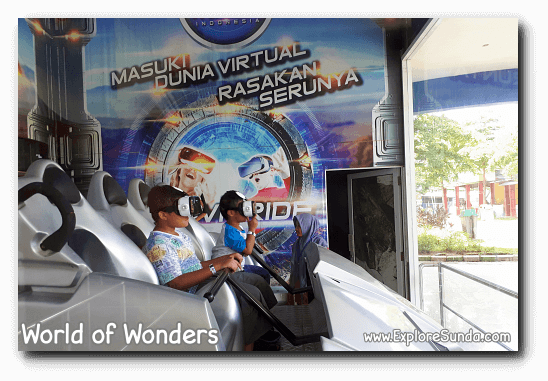 Virtual Reality ride at World of Wonders Park, Tangerang
