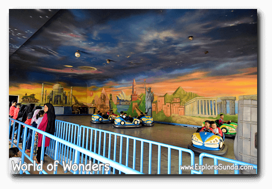 Bumper car ride at World of Wonders Park, Tangerang