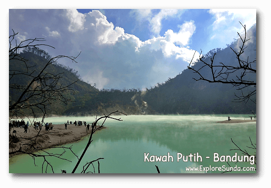 Kawah Putih [White Crater], one of the craters in Bandung regency.