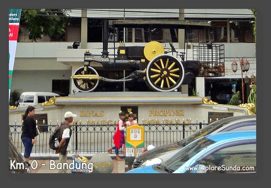 Km. 0 Bandung at Asia Afrika street.