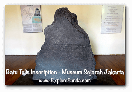 Batu Tulis Inscription at Jakarta History Museum