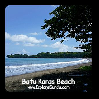Batu Karas Beach near Pangandaran