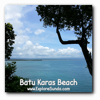 A view of Indonesia / Indian Ocean from the top of Batu Karas, Pangandaran.