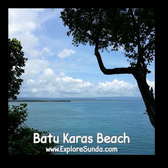 A view of Indonesia / Indian Ocean from the top of Batu Karas, Pangandaran.
