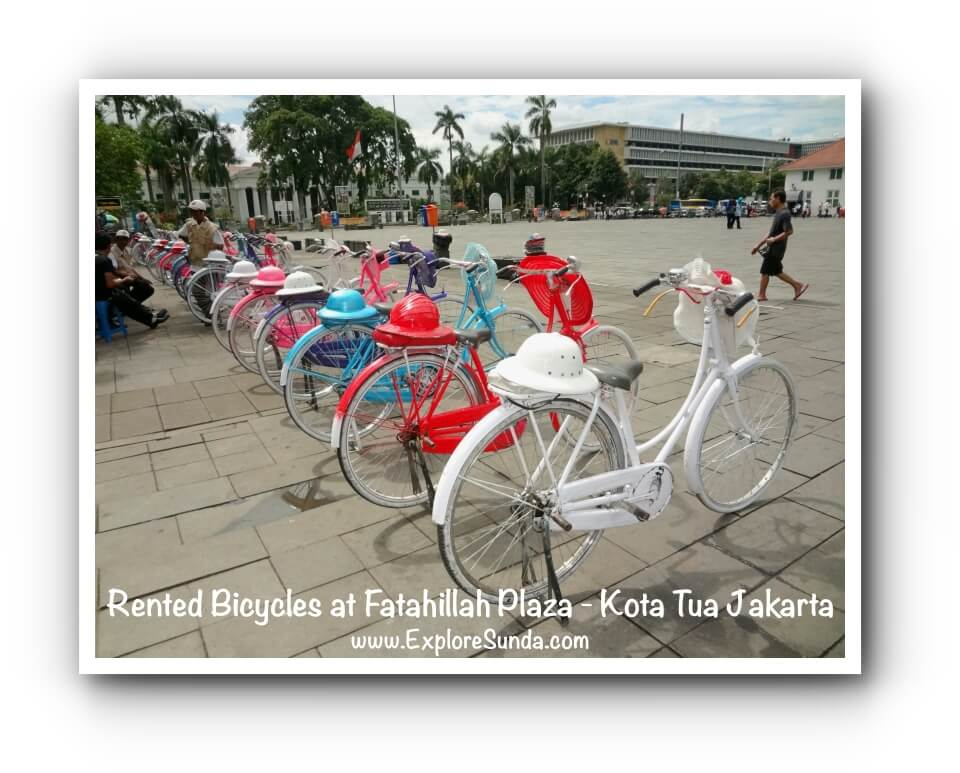 Rented Bicycles at Fatahillah Plaza - Kota Tua Jakarta