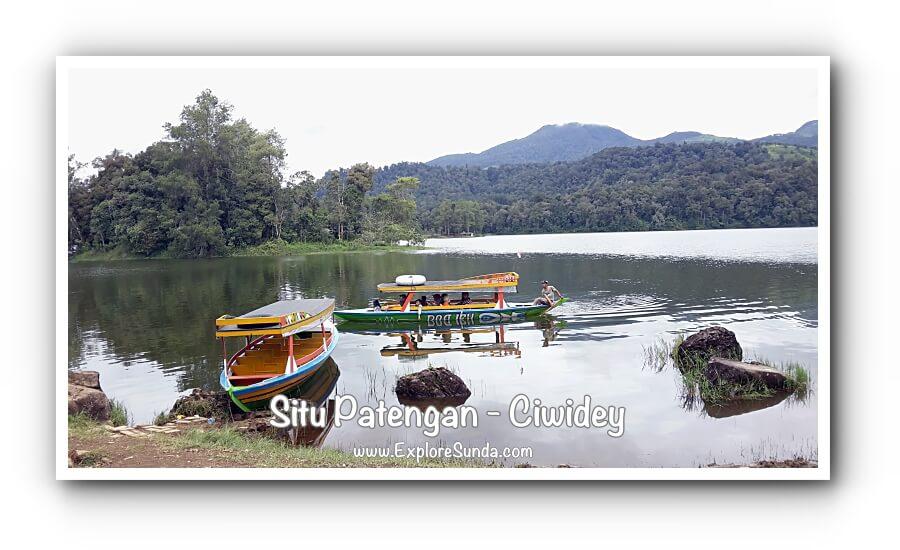 Situ Patengan a.k.a. Situ Patenggang Bandung, a view from Glamping Lakeside Rancabali.