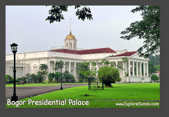 Bogor Presidential Palace is adjacent to Bogor Botanical Garden.