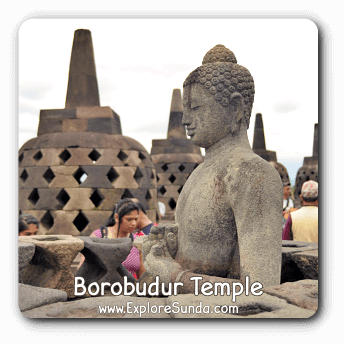 Borobudur Temple, the largest Budhist temple in the world and one of the seven wonders of the world.