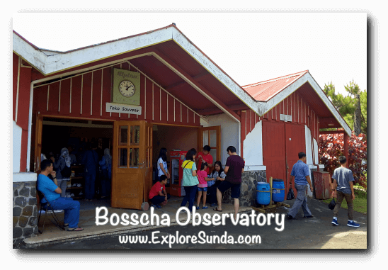 Souvenir shop at Bosscha Observatory, Lembang
