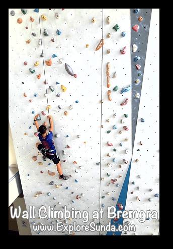 Indoor wall climbing at Bremgra, South Tangerang