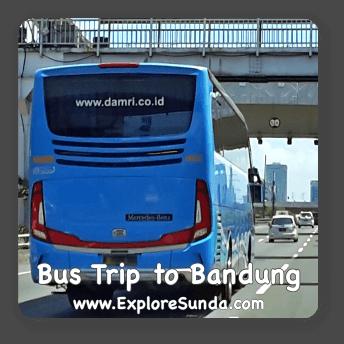 Bus trip to Bandung, Indonesia.
