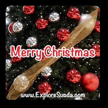 Merry Christmas from us in ExploreSunda.com