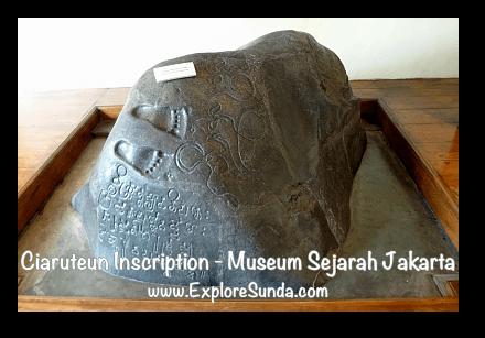 Ciaruteun Inscription at Jakarta History Museum