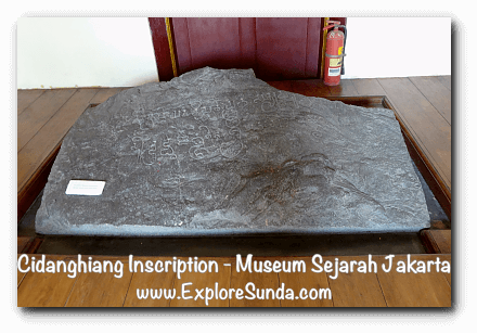 Cidanghiang Inscription at Jakarta History Museum