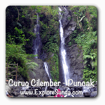 Cilember waterfall in Cisarua, Puncak