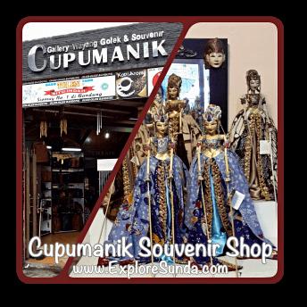 Souvenir shops in Bandung.