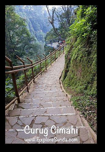 Stairs at Curug Cimahi in Cisarua, Lembang.