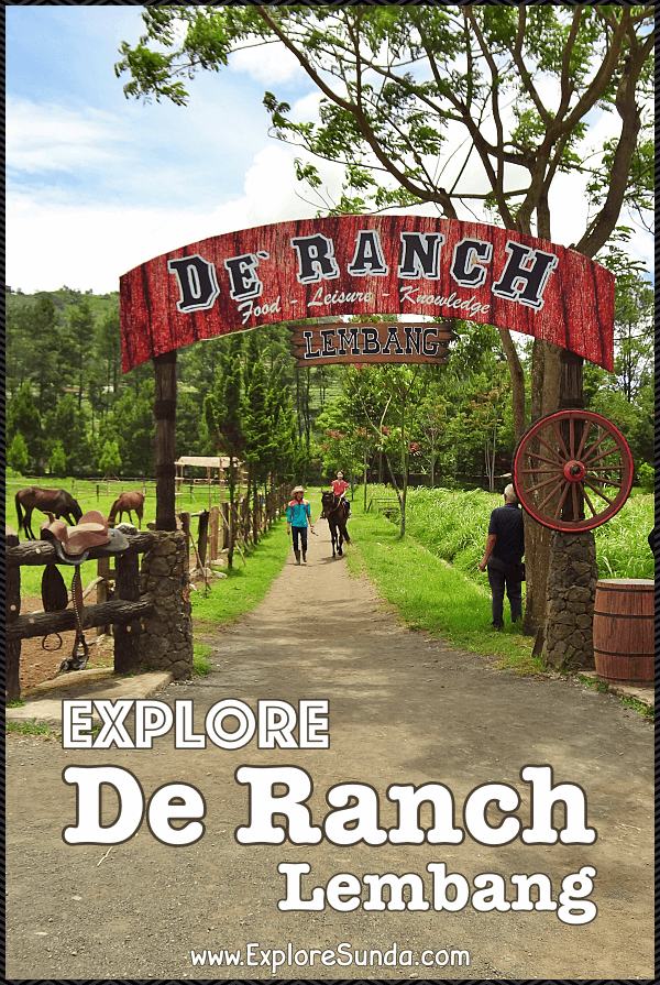 Things to do in Bandung: visit De Ranch Lembang to ride a horse and pretend to be the cowboy/cowgirl of the day | #ExploreSunda #DeRanch