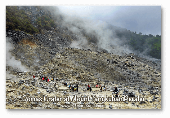 Mountains and Active Volcano in Sunda: Queen crater at mount Tangkuban Perahu, Bandung.
