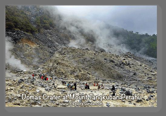Mountains and Active Volcano in Sunda: Queen crater at mount Tangkuban Perahu, Bandung.