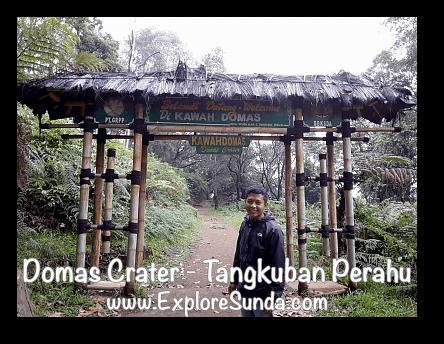 Domas Crater welcome gate, Tangkuban Perahu - Cikole, Lembang