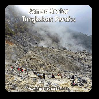 Domas Crater at Mount Tangkuban Perahu.