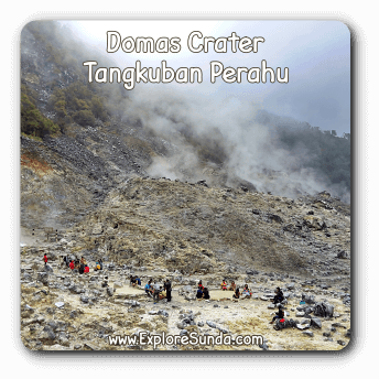 Domas crater at Mount Tangkuban Perahu.