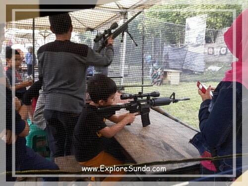 Shooting game at Dusun Bambu,  Cisarua - Lembang