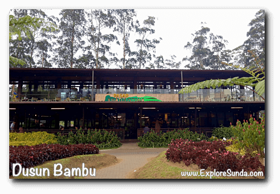 Pasar Khatulistiwa, the food court at Dusun Bambu,  Cisarua - Lembang