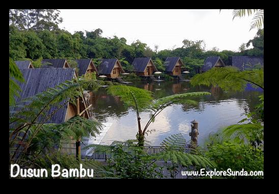 Saung Purbasari, one of the restaurants in Dusun Bambu,  Cisarua - Lembang