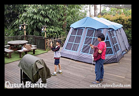 Glamping (glamour camping) at Dusun Bambu,  Cisarua - Lembang