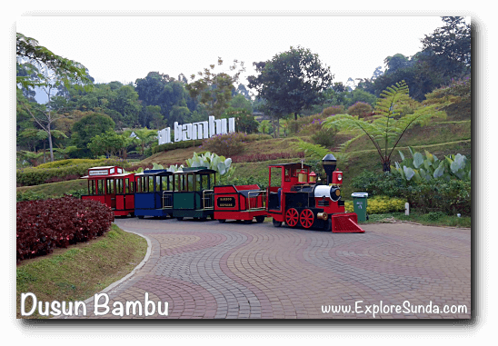 Mini train ride at Dusun Bambu,  Cisarua - Lembang