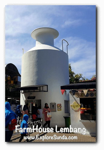 Giant milk container, i.e. fresh milk kiosk in FarmHouse Lembang