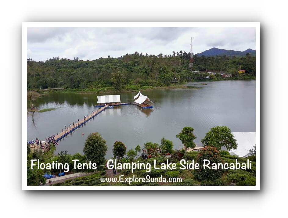 Floating Tents at Glamping Lake Side Rancabali, Situ Patenggang