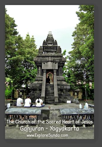 The Church of the Sacred Heart of Jesus in Ganjuran Village, Yogyakarta.