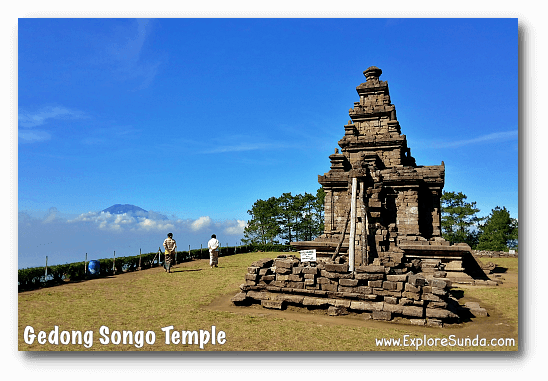A breathtaking view at the highest temple of Candi Gedong Songo.
