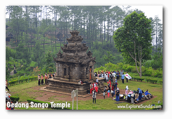 Local boy scouts practice at Candi Gedong Songo.
