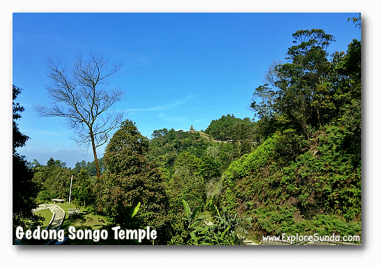 The ninth temple of Candi Gedong Songo at the top of the mountain. Do you see it?