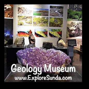 Amethyst Crystal in Geology Museum in Bandung