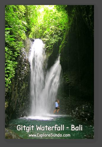 Gitgit Waterfall in Bali.