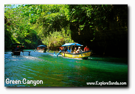 Sail along Cijulang river, Green Canyon - Pangandaran