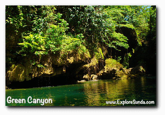 The beauty of Green Canyon, Pangandaran