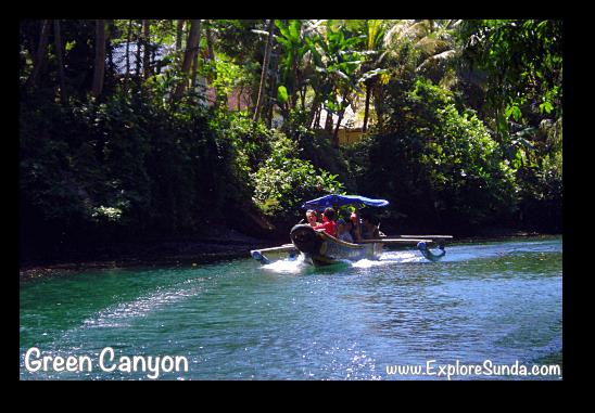 Sail along Cijulang river, Green Canyon - Pangandaran