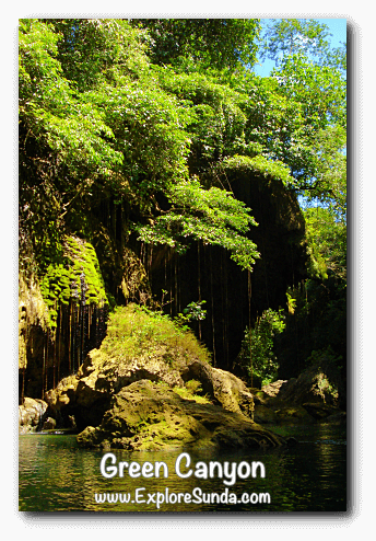 The beauty of Green Canyon, Pangandaran