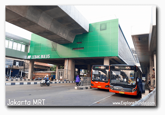 Lebak Bulus MRT Station is connected with TransJakarta Bus.