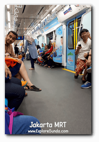 A very comfortable ride of MRT Jakarta.